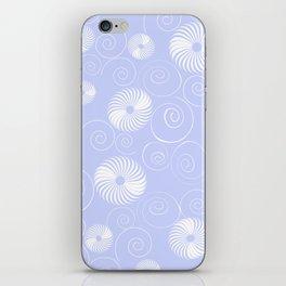 White Spirals iPhone Skin
