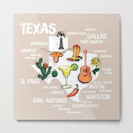Classic Texas Icons Metal Print