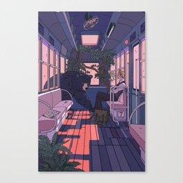 Paw Friendly Car Canvas Print