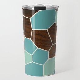 Geode in Blue Travel Mug