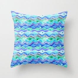 Ocean Pattern - Dolphin Throw Pillow