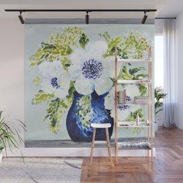 Anemones in vase Wall Mural