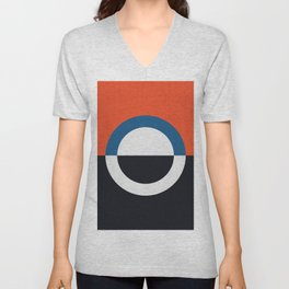 Blue and red composition XXIV Unisex V-Neck