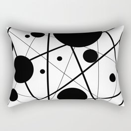 Abstract Lines and Dots Rectangular Pillow