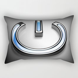 Start symbol for technology with blue light - 3D rendering Rectangular Pillow