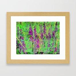Textured Purple Loosestrife Framed Art Print