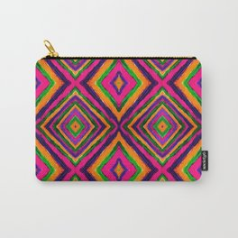 Rainbow Painted God's Eye - Pink Carry-All Pouch