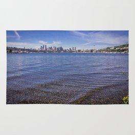 Lake Union and Seattle Skyline Rug