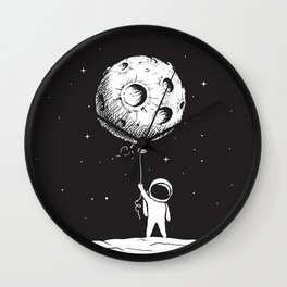 Fly Moon Wall Clock