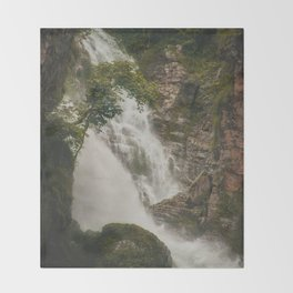 The Waterfalls of Nepal 001 Throw Blanket