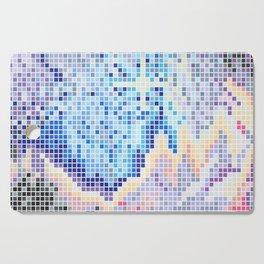 Pixelated Nebula Blue Cutting Board