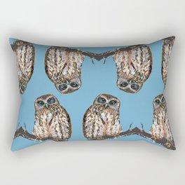 Mrs Ruru, New Zealand Morepork Owl Rectangular Pillow