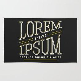 Lorem F*king ipsum Rug
