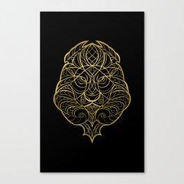 Leo Gold Canvas Print