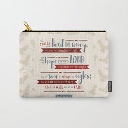 """Hope in the Lord"" Hand-Lettered Bible Verse Carry-All Pouch"