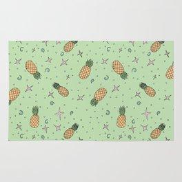 Atomic Pineapple - Green Rug