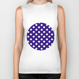 Polka Dot Party in Blue and White Biker Tank