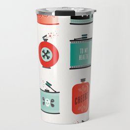 Flask Collection – Red & Turquoise Palette Travel Mug