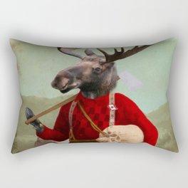 Lumberjack Marvin Moose Rectangular Pillow