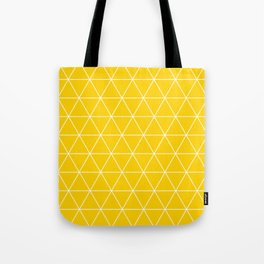 Triangle yellow-white geometric pattern Tote Bag