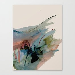 Begin again [2]: an abstract mixed media piece in a variety of colors Canvas Print