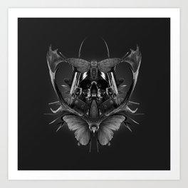 Skull Rorschach Art Print