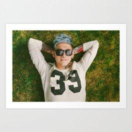 Niall Horan Punk Edit Art Print