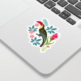 Floral Toucan Sticker
