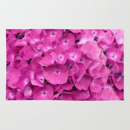 Artful Pink Hydrangeas Floral Design Rug