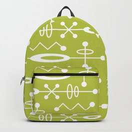Mid Century Modern Radioactive Surfer 251 Chartreuse Backpack