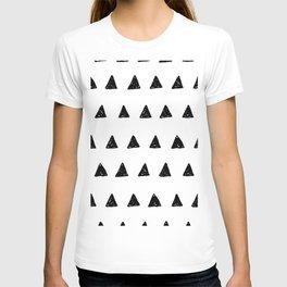 Aztec minimal triangles T-shirt