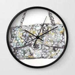 floral handbag  Wall Clock