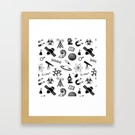 Symbols of Science Framed Art Print