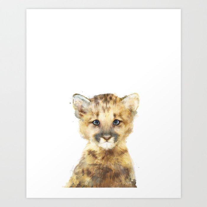 Sunday's Society6 | Little animal mountain lion art print