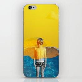 Blue Pool Orange Sky part two iPhone Skin