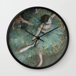 Swaying Dancer - Edgar Degas Wall Clock