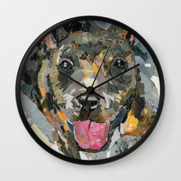 Nubby The Rescue- Available for adoption @ Bama Bully Rescue Wall Clock