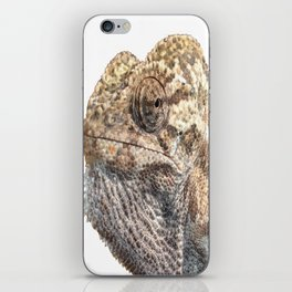 Chameleon With Sinister Facial Expression Isolated iPhone Skin