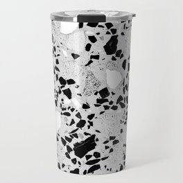 Real Terrazzo Stone Marble Concrete Mix Pattern Travel Mug