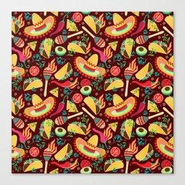 Spicy taco Canvas Print