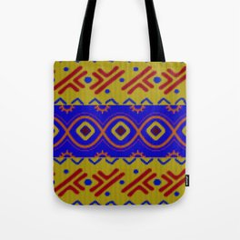 Ethnic African Knitted style design Tote Bag