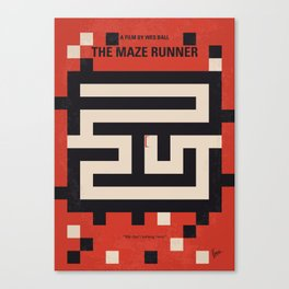 No837 My The Maze Runner minimal movie poster Canvas Print