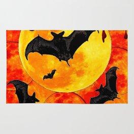 Bloody Full Moon Bats Rug