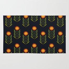 Wildflowers: Hawkweed Pattern Rug