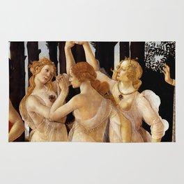 """Sandro Botticelli """"Primavera"""" The Three Graces Rug"""