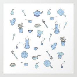 Kitchen Pattern Print! Art Print