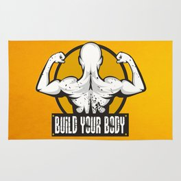 Build Your Body Inspirational Life Motivational Quote Rug