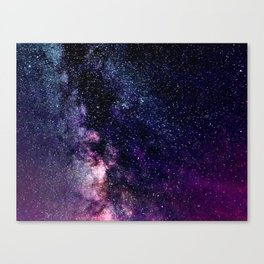 The Milky Way Midnight Blue & Purple Canvas Print