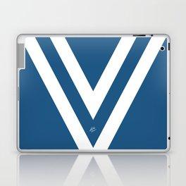 Blue V Abstract Retro Design Laptop & iPad Skin