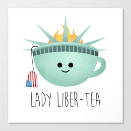 Lady Liber-tea Canvas Print